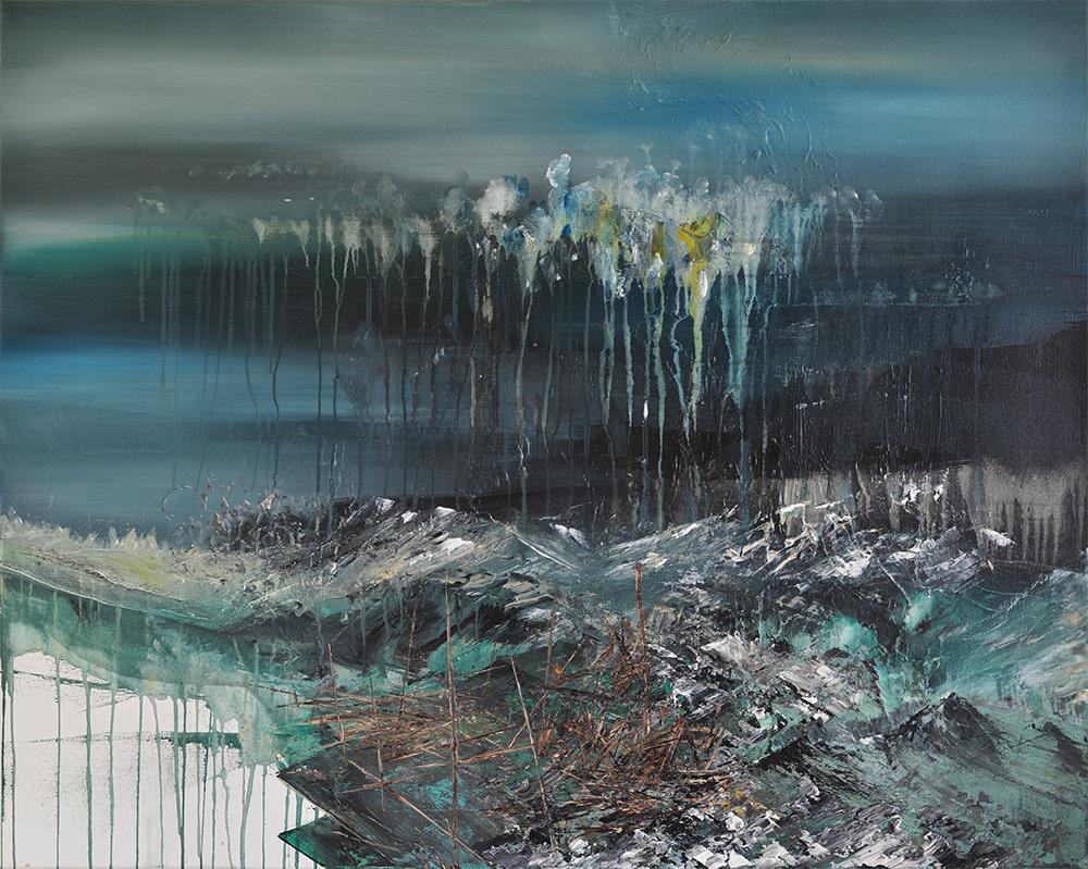 Ohne Titel | Acrylic on linen | 80x100cm | 2016