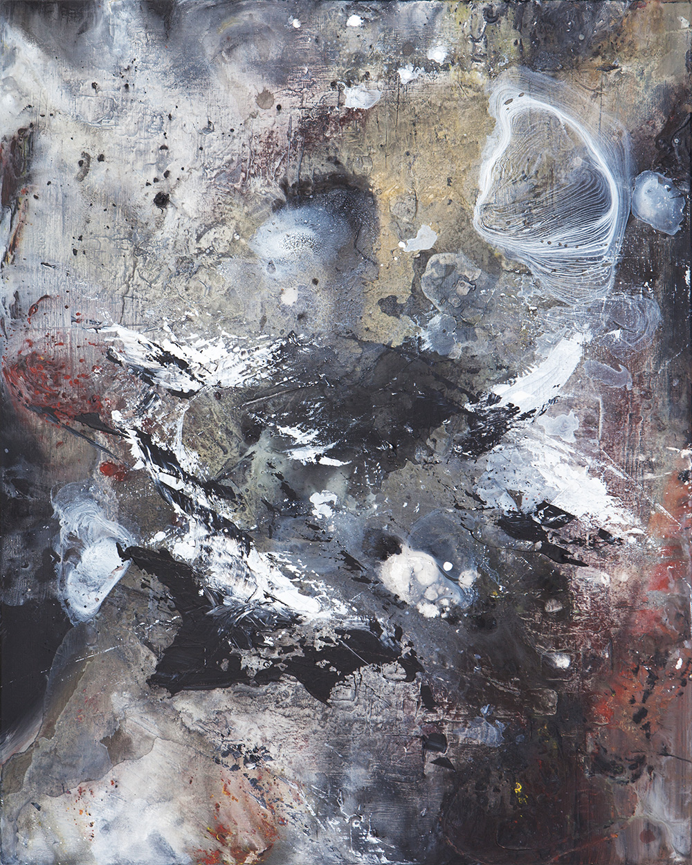 Weltenbummler | Acrylic, oil on canvas | 100x80cm | 2016