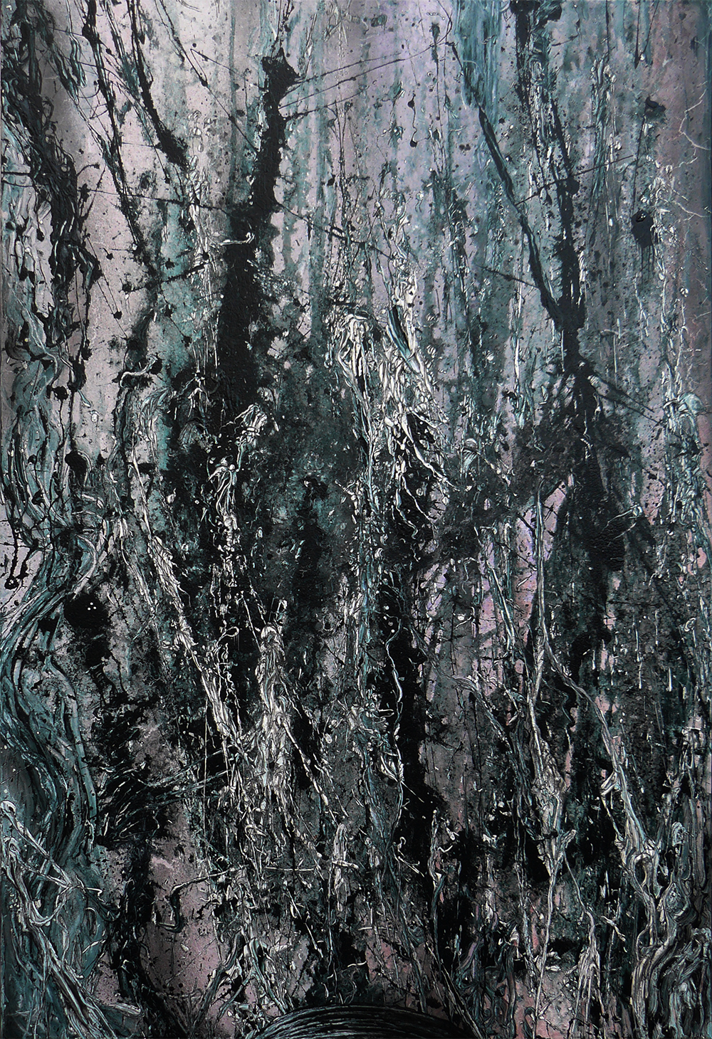 Ohne Titel | Acrylic lacquer, india ink on canavs | 120x80cm | 2011