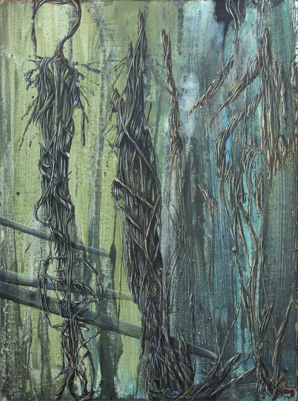 Im Unterholz | Acrylic on wood | 40x29.7cm | 2013