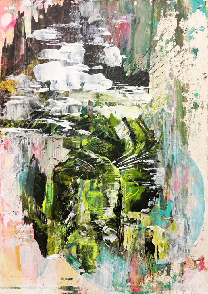 Ohne Titel | Acrylic on cardboard | 50x35cm | 2016