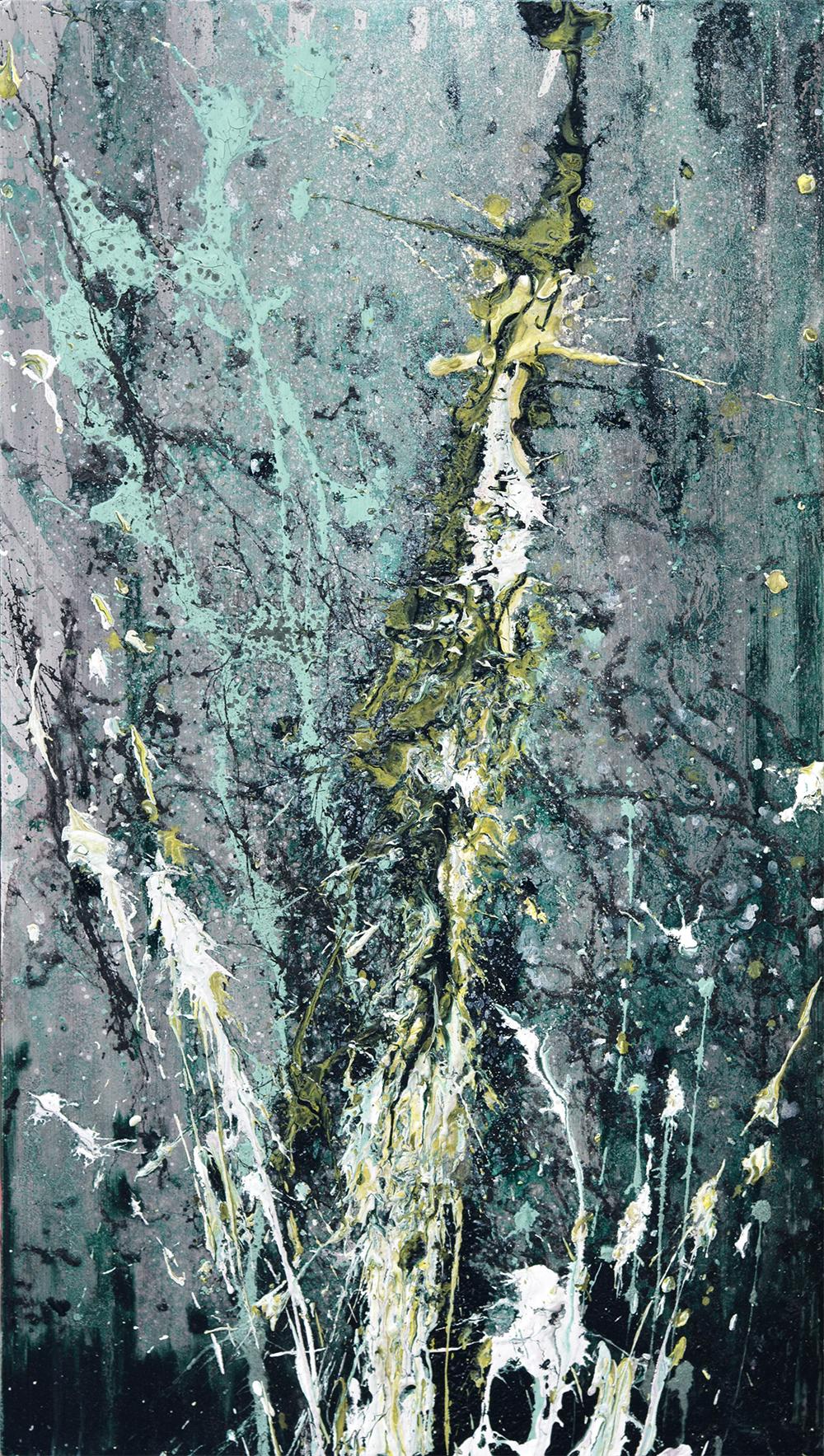 Ohne Titel | Acrylic, acrylic lacquer on wood | 50x28cm | 2015