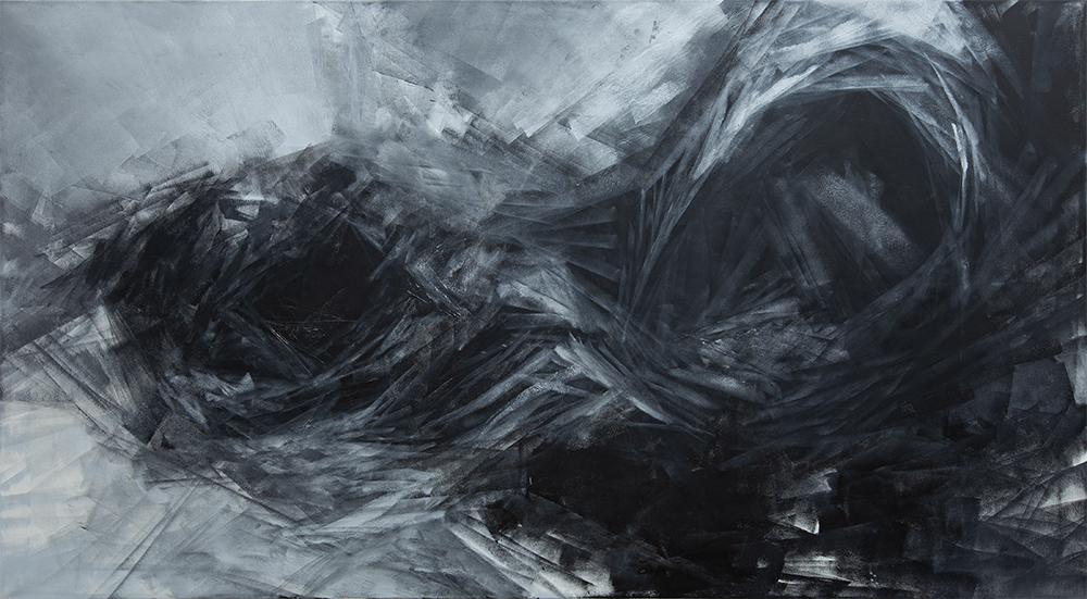 Ohne Titel | 2020 | Acrylic lacquer on canvas | 120x220cm