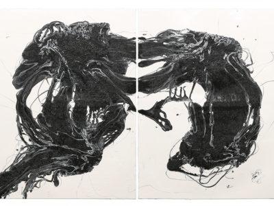 Ohne Titel | 2021 | Acrylic, acrylic lacquer on canvas |120x180cm
